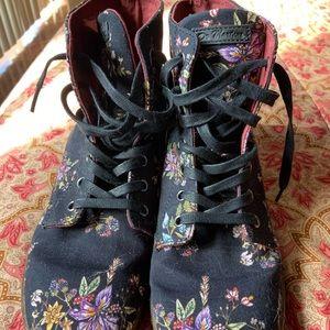 Floral soft doc martens